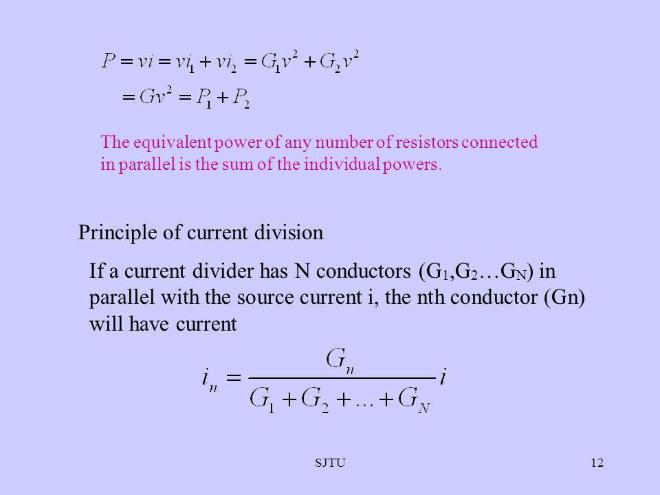 Principle of current division
