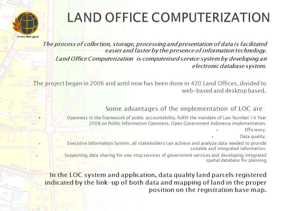 LAND OFFICE COMPUTERIZATION
