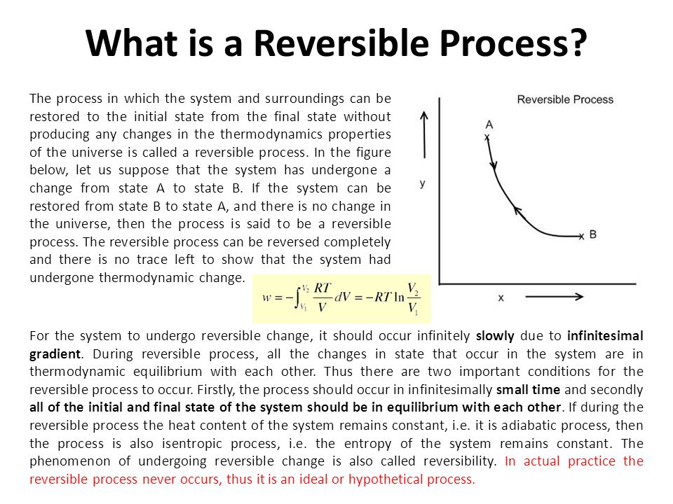 What is a Reversible Process