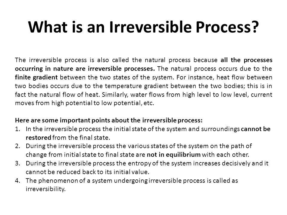 What is an Irreversible Process