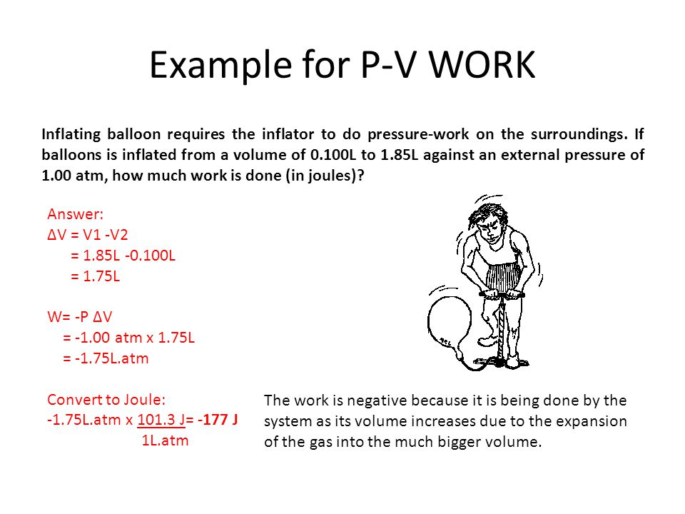 Example for P-V WORK