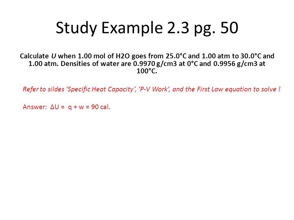 Study Example 2.3 pg. 50