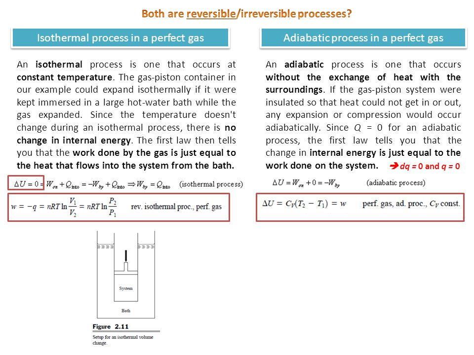 Both are reversible/irreversible processes