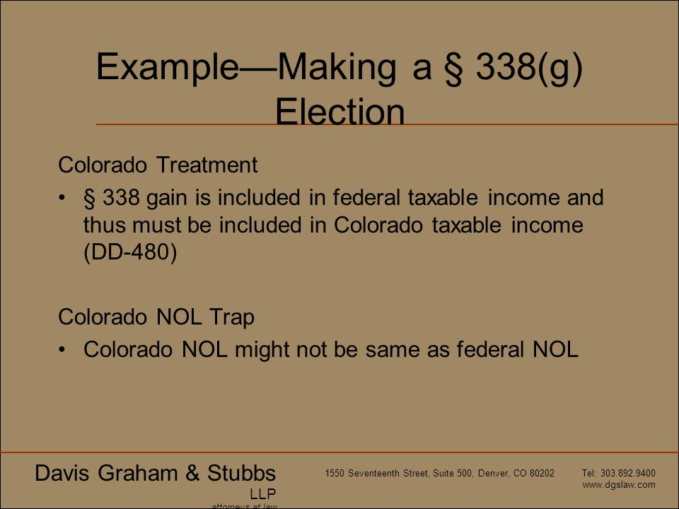 Example—Making a § 338(g) Election