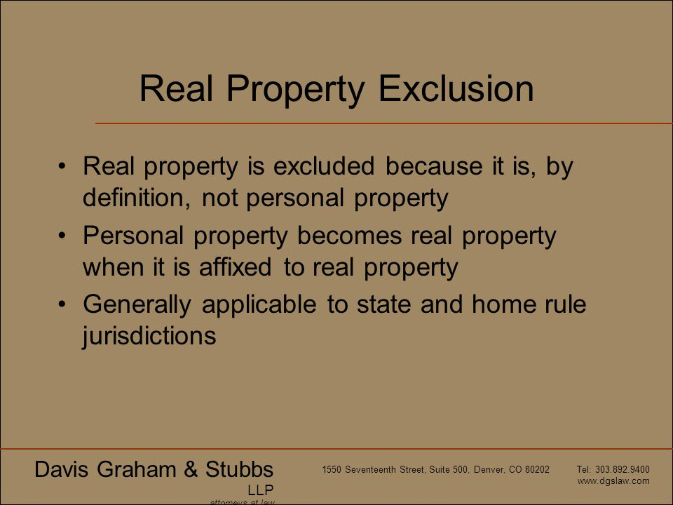Real Property Exclusion