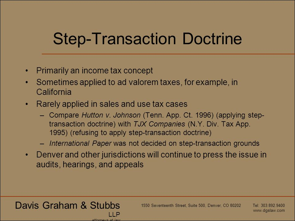 Step-Transaction Doctrine