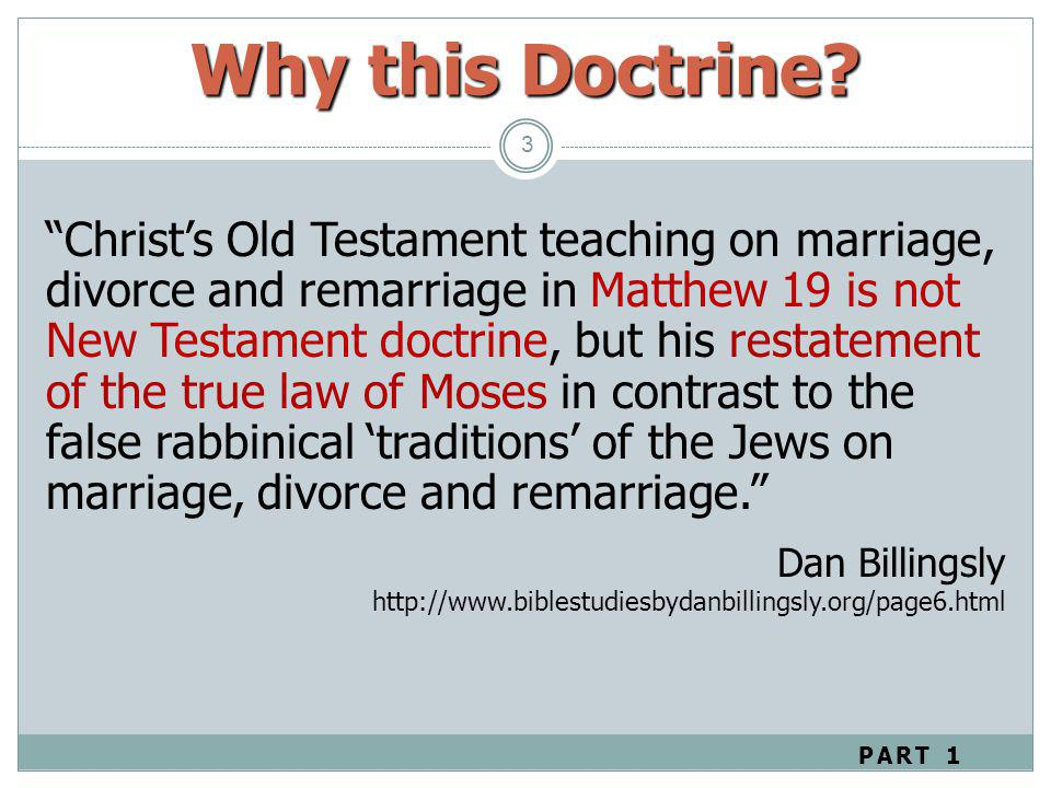 Why this Doctrine