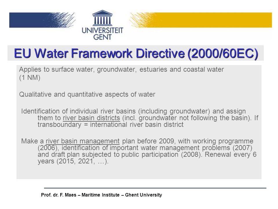 EU Water Framework Directive (2000/60EC)