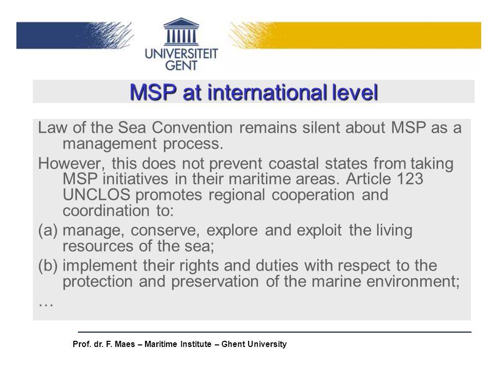 MSP at international level