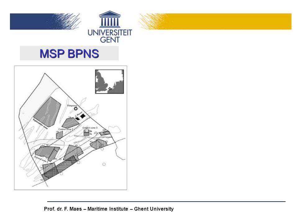 MSP BPNS Prof. dr. F. Maes – Maritime Institute – Ghent University