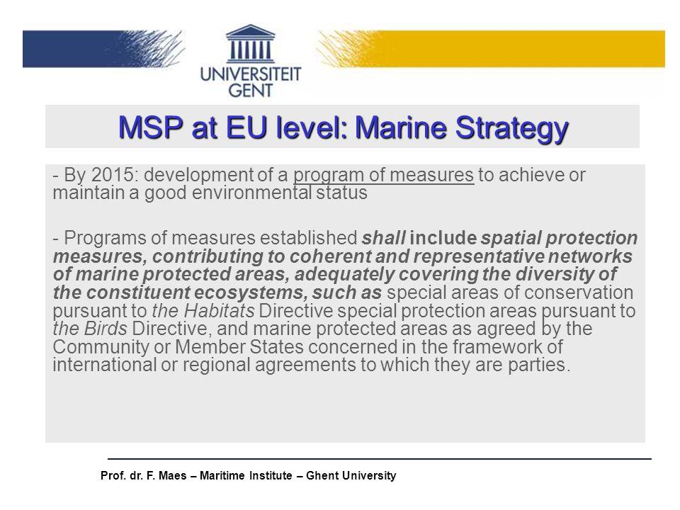 MSP at EU level: Marine Strategy