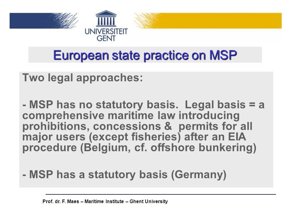 European state practice on MSP