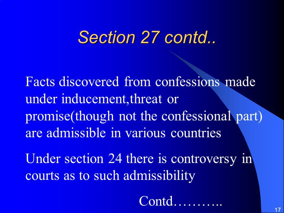 Section 27 contd..