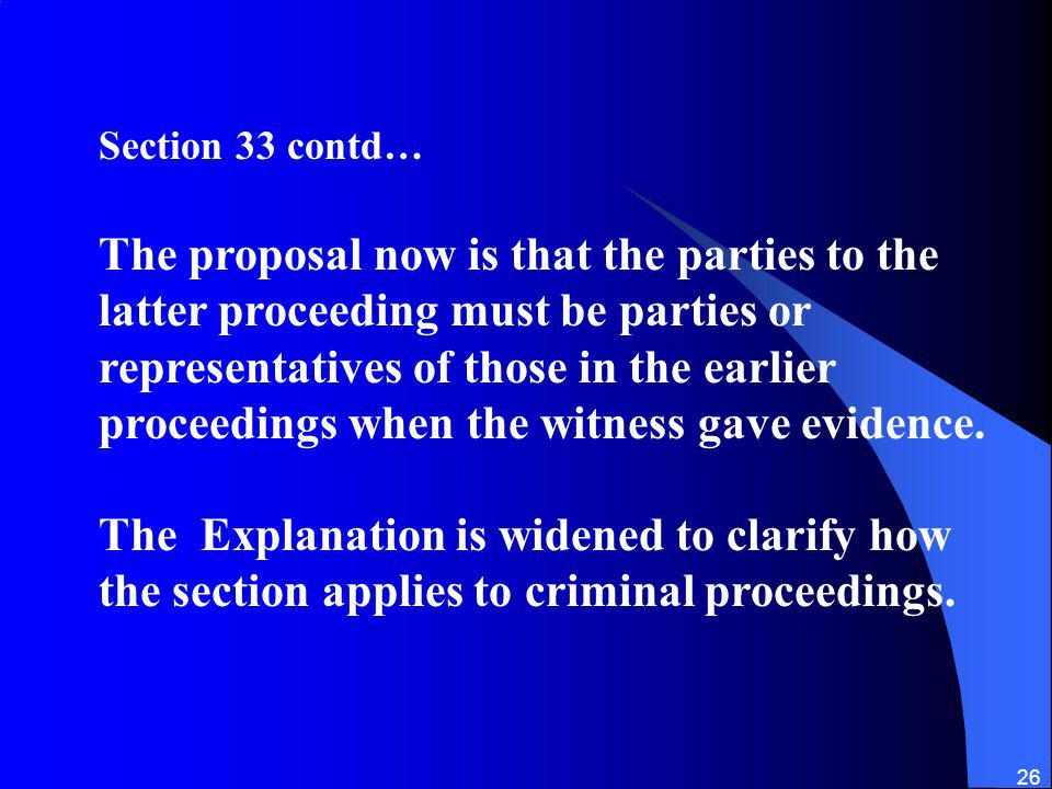 Section 33 contd…