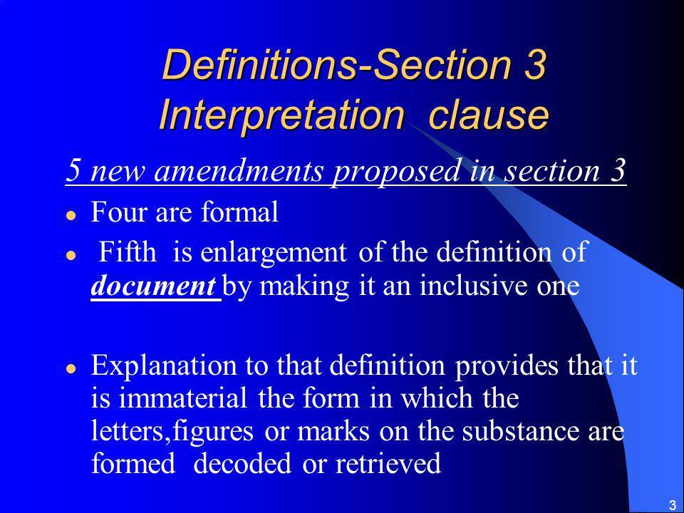 Definitions-Section 3 Interpretation clause