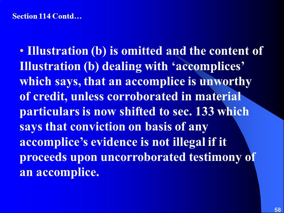 Section 114 Contd…