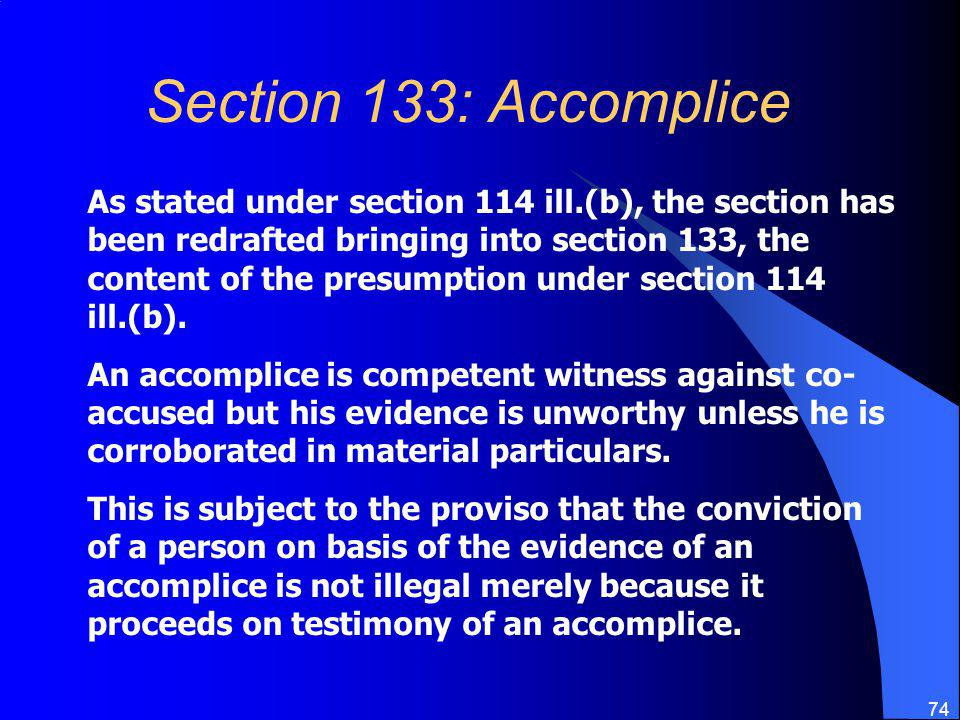 Section 133: Accomplice