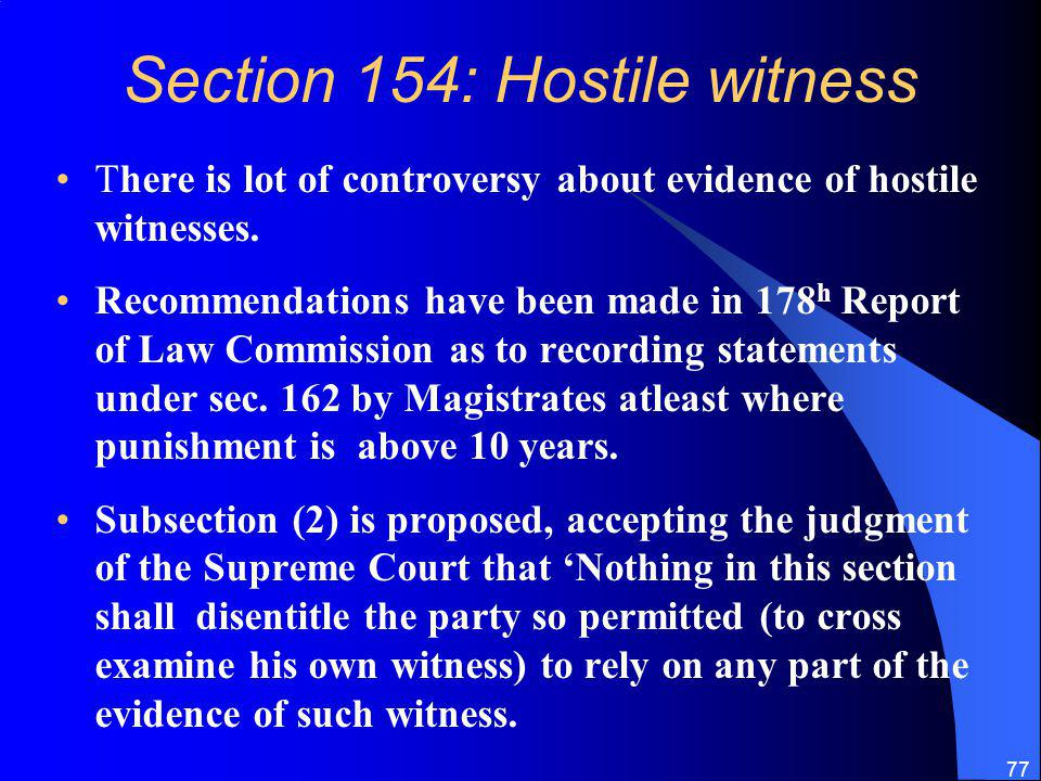 Section 154: Hostile witness