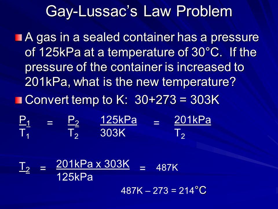 Gay-Lussac's Law Problem