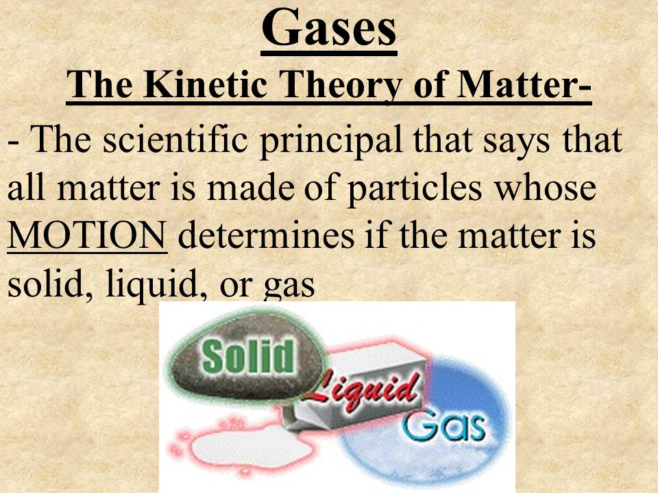 The Kinetic Theory of Matter-