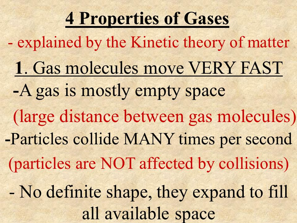 - explained by the Kinetic theory of matter