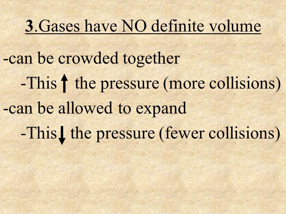 3.Gases have NO definite volume