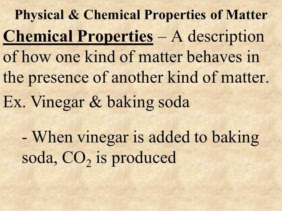 Physical & Chemical Properties of Matter
