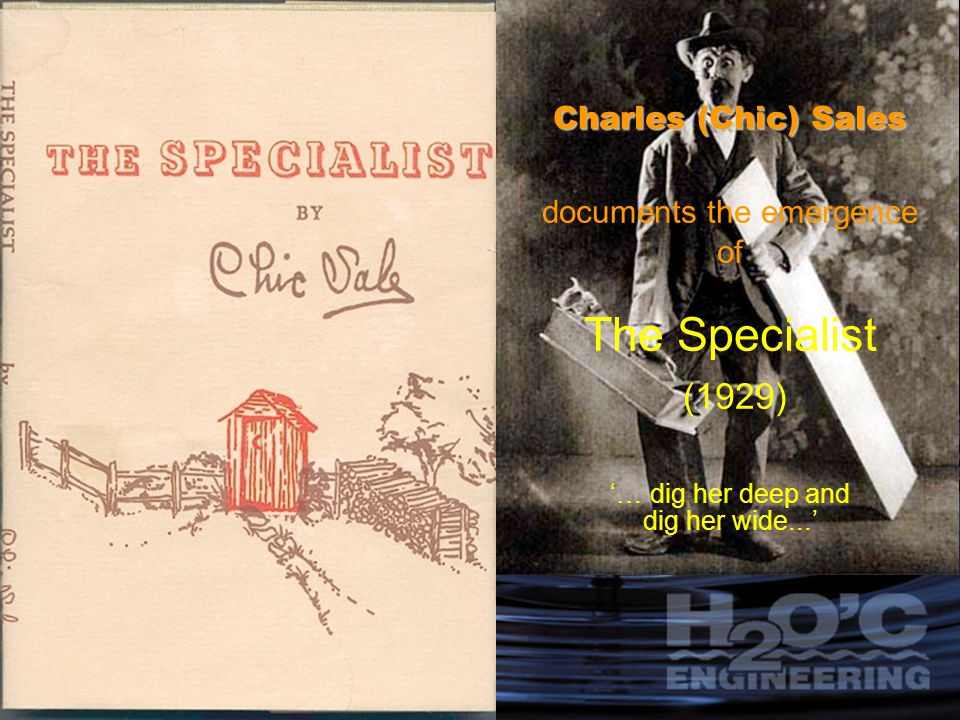 Charles (Chic) Sales documents the emergence of The Specialist (1929) '… dig her deep and dig her wide...'