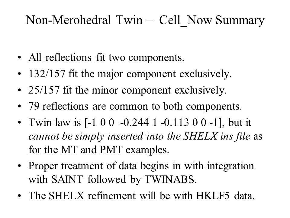 Non-Merohedral Twin – Cell_Now Summary