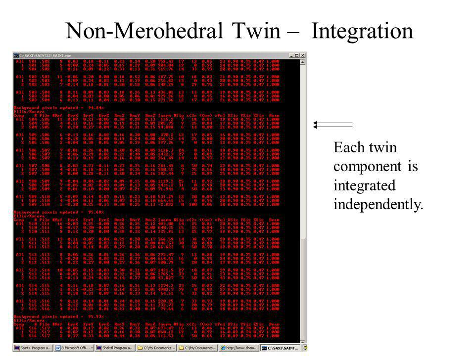 Non-Merohedral Twin – Integration