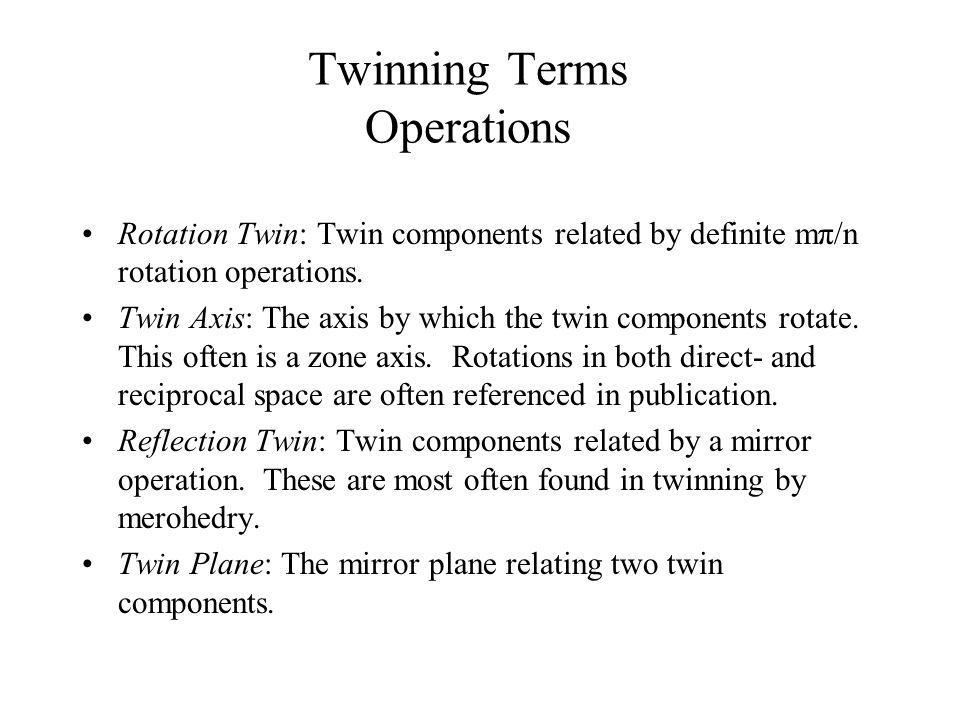 Twinning Terms Operations