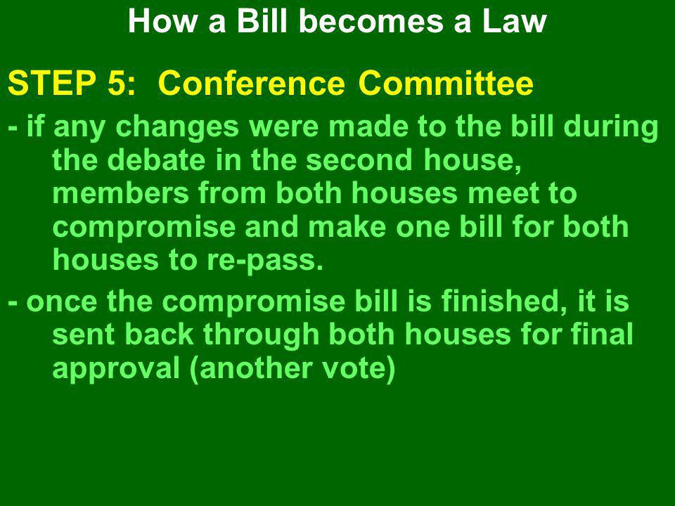 STEP 5: Conference Committee
