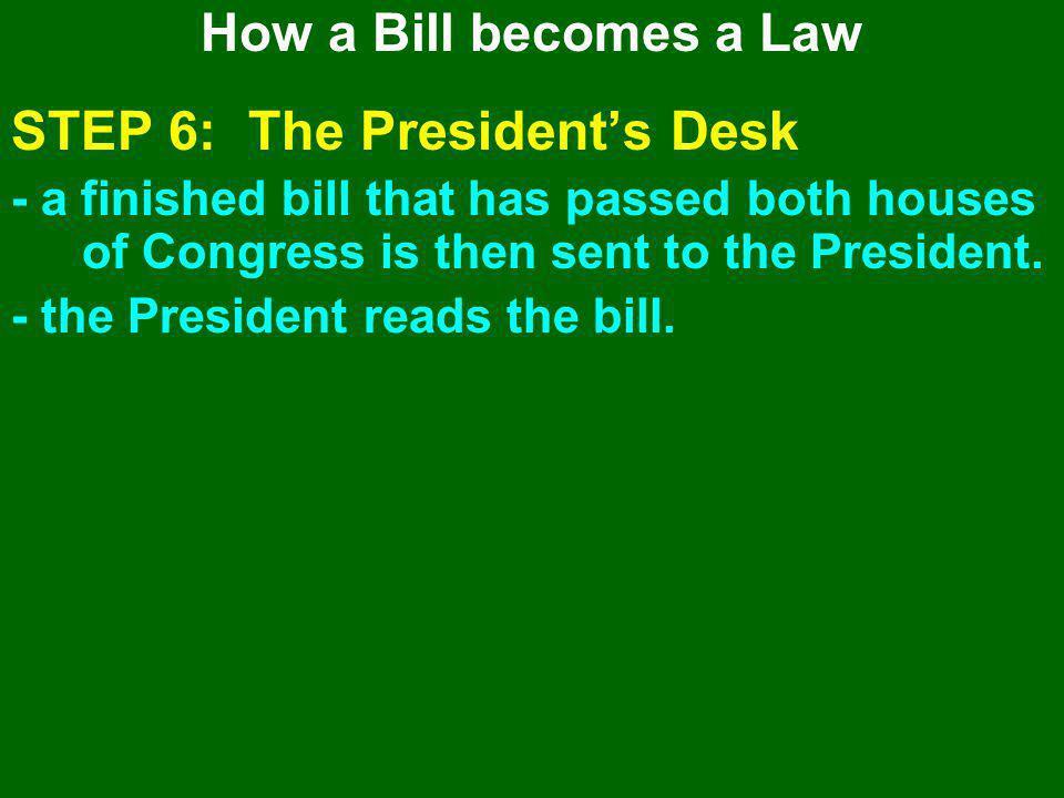 STEP 6: The President's Desk