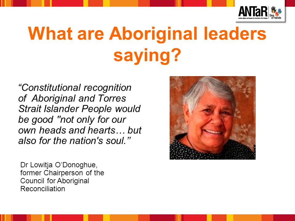 What are Aboriginal leaders saying