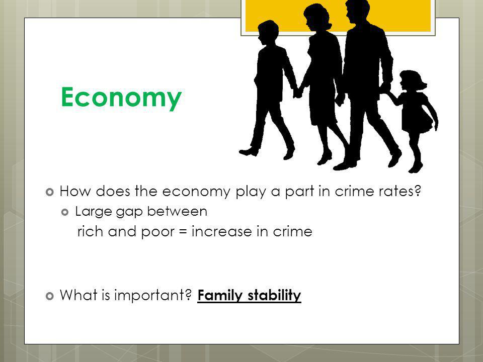 Economy How does the economy play a part in crime rates