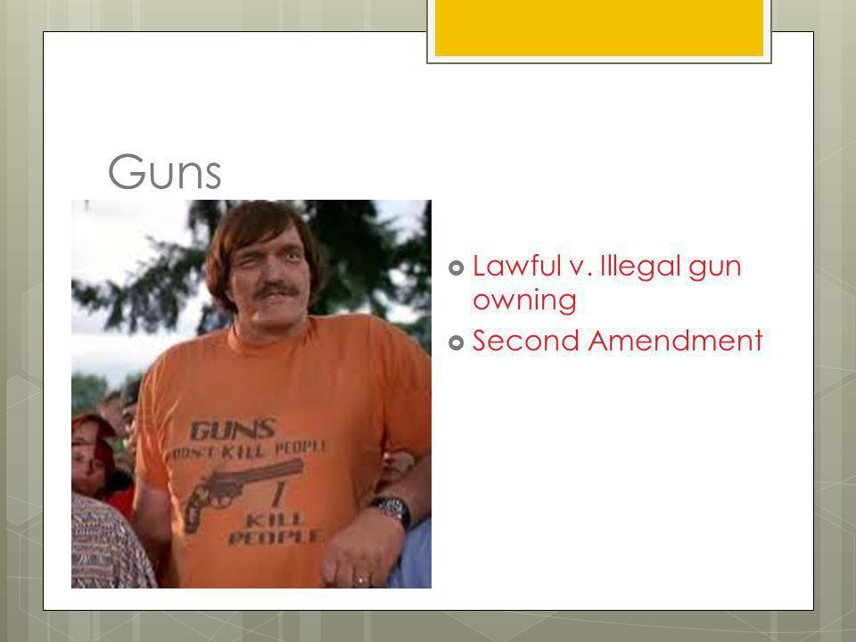 Lawful v. Illegal gun owning