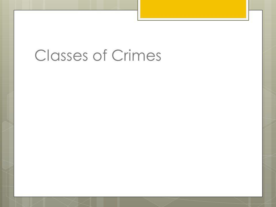 Classes of Crimes