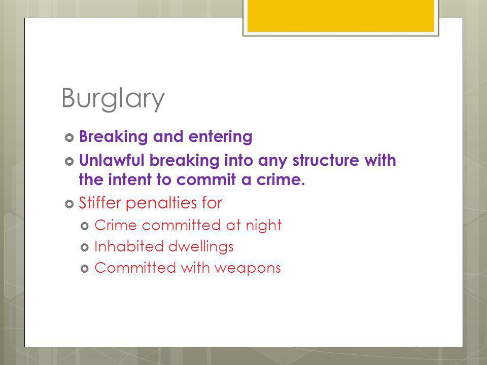 Burglary Breaking and entering