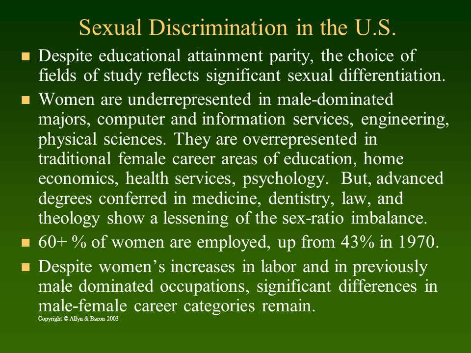 Sexual Discrimination in the U.S.