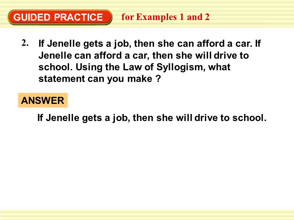 GUIDED PRACTICE for Examples 1 and 2. 2.