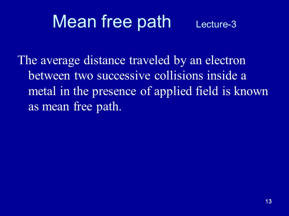 Mean free path Lecture-3