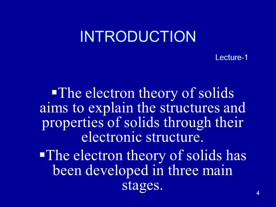 INTRODUCTION Lecture-1