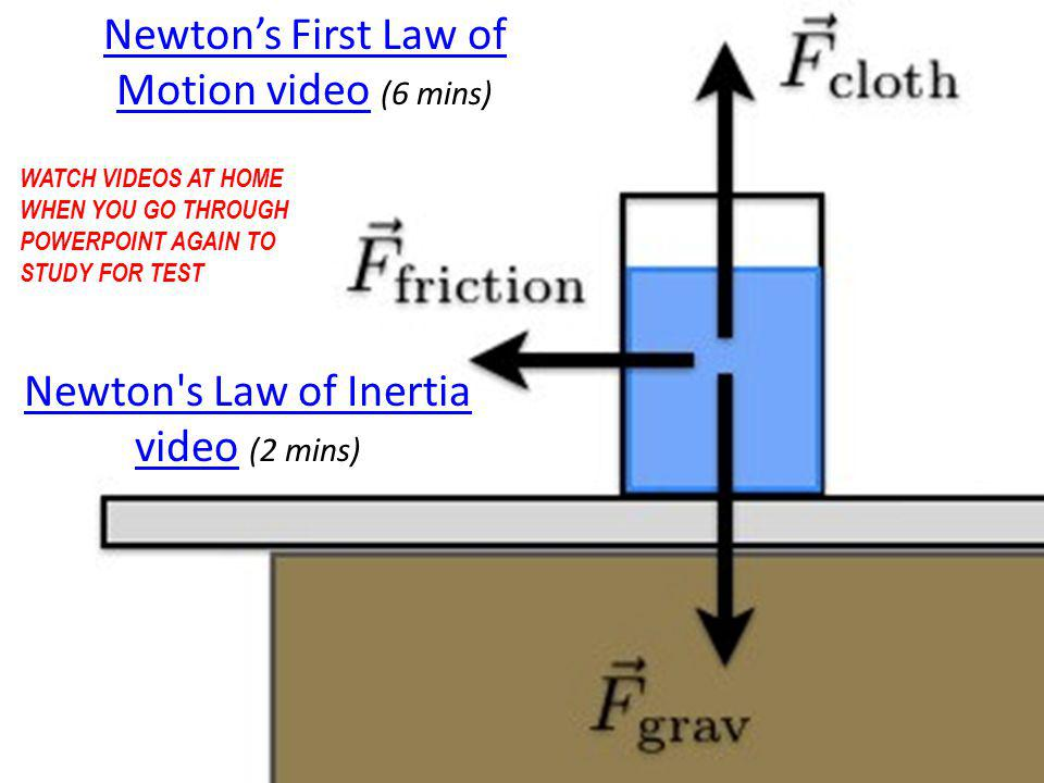 Newton's First Law of Motion video (6 mins)