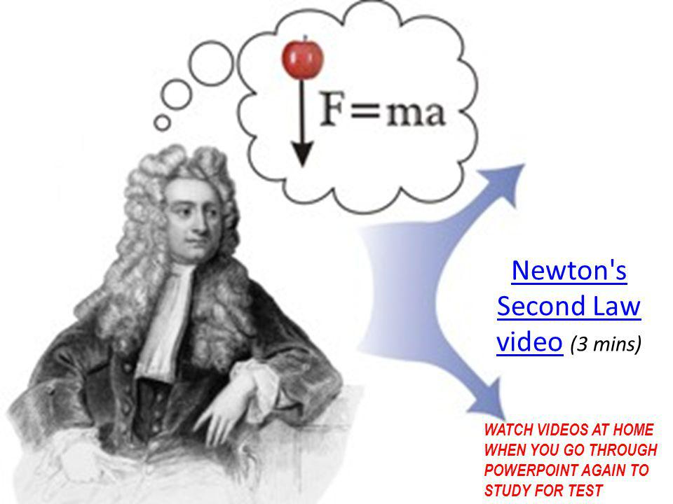 Newton s Second Law video (3 mins)