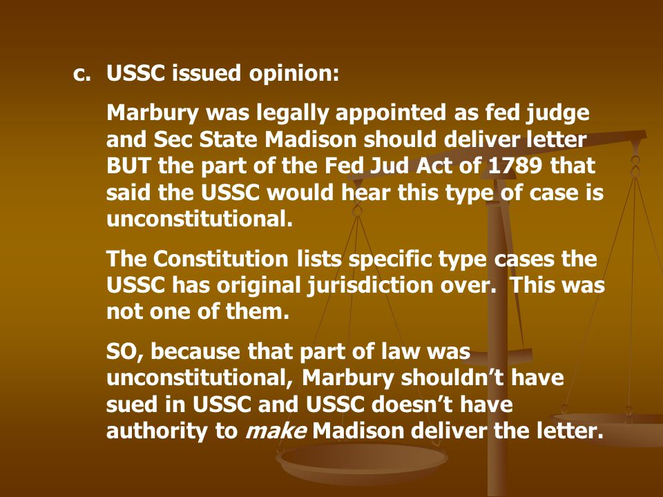 USSC issued opinion:
