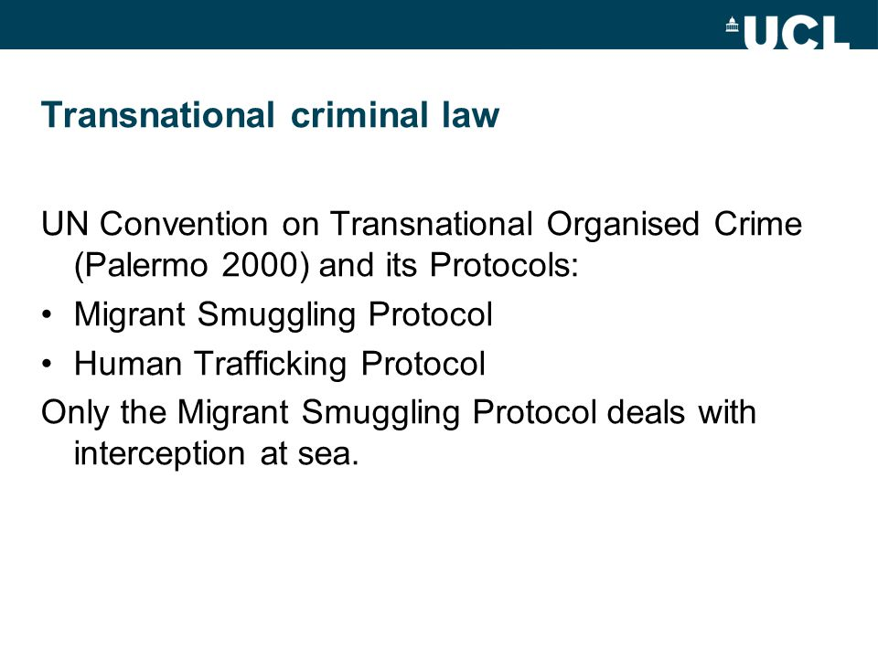Transnational criminal law