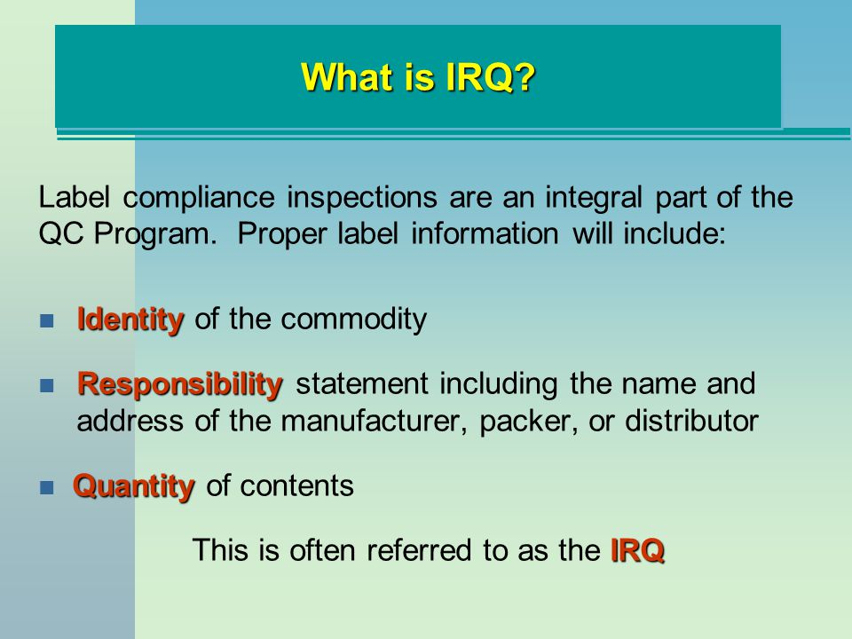 This is often referred to as the IRQ