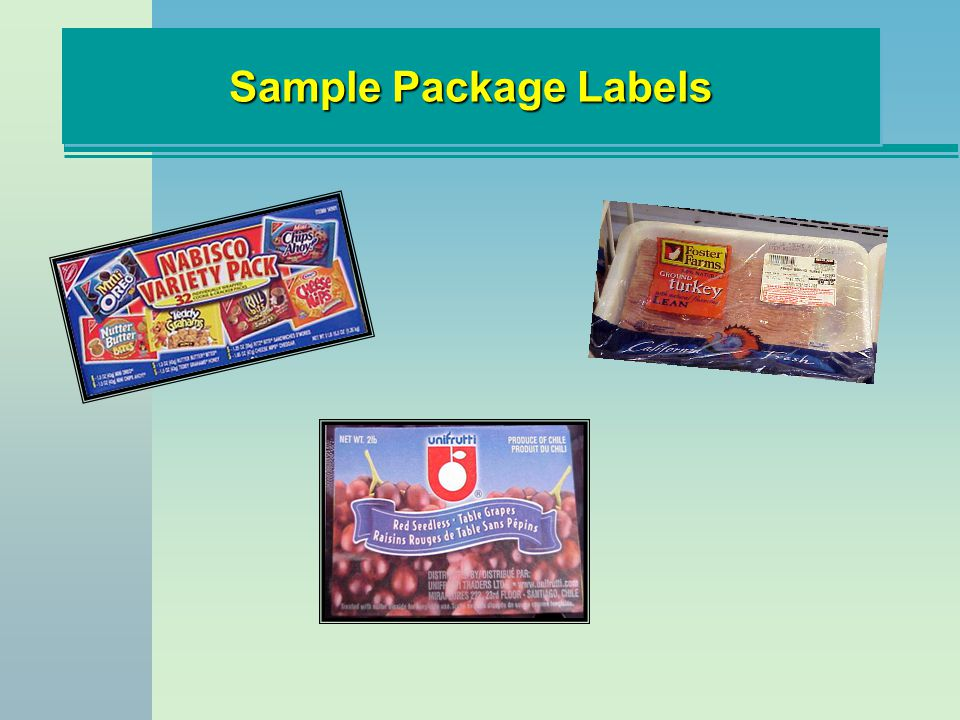 Sample Package Labels