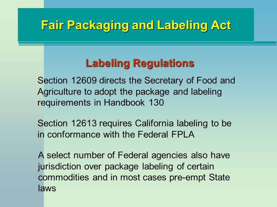 State of california meat dating regulations