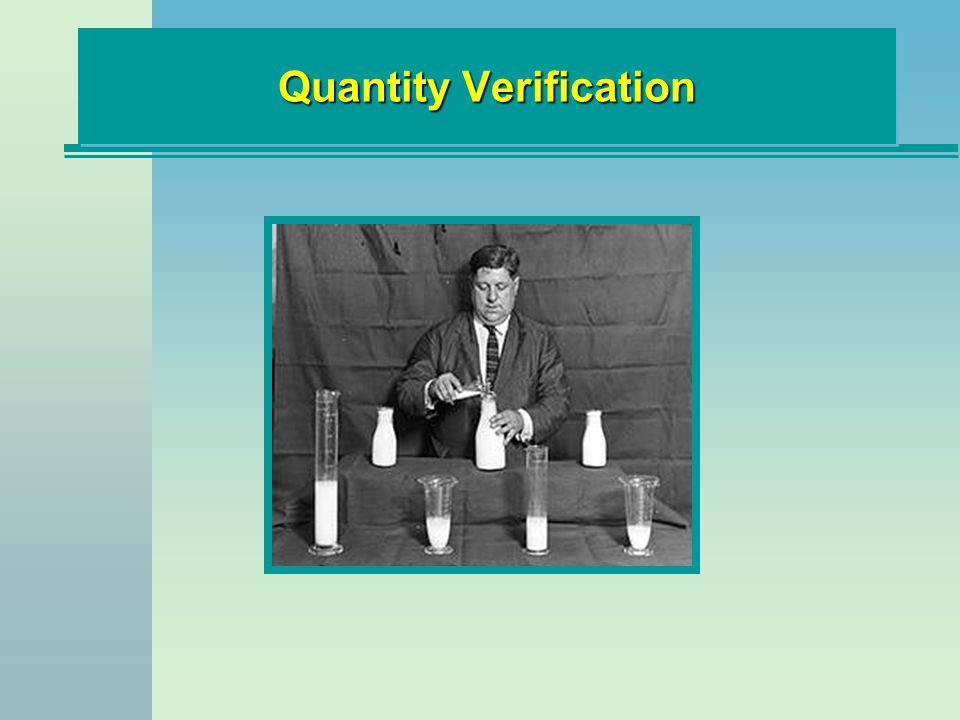 Quantity Verification
